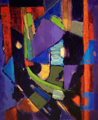 André COURTY - Painting - Abstrait