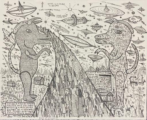 Howard FINSTER - Grabado - Road of Eturnity