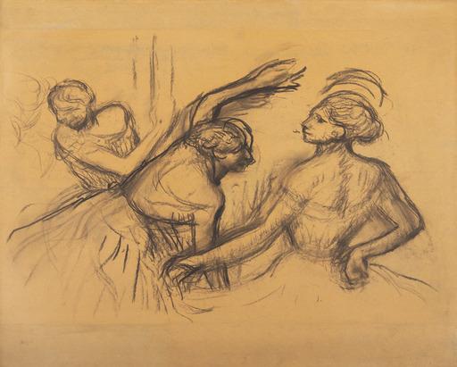 Edgar DEGAS - Drawing-Watercolor - Scène de ballet