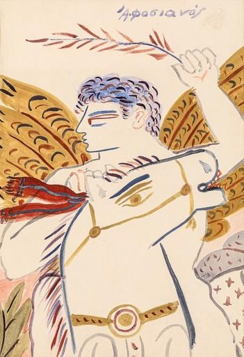 Alexandre FASSIANOS - Pittura - Ange Cavalier
