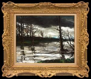 Maurice DE VLAMINCK - Painting - Hiver, Ciel d'Orage
