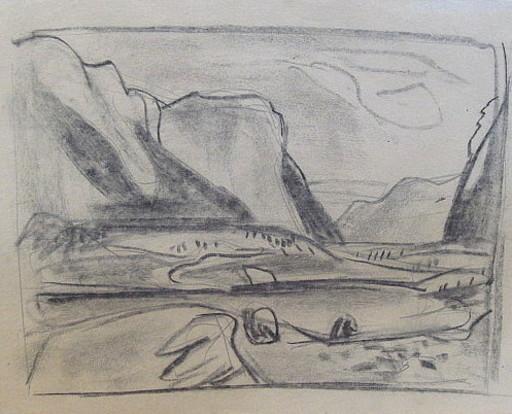Erich HARTMANN - Dessin-Aquarelle - #19980: Norwegen.