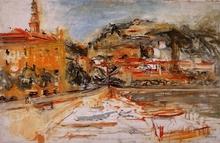 Isaac DOBRINSKY - Pintura - Le port de Menton