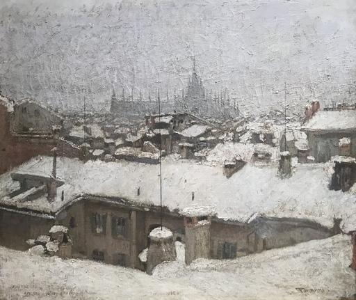 Piero FORNARI - Gemälde - Milano dal mio studio