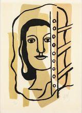 Fernand LÉGER - Estampe-Multiple - Tete de Femme
