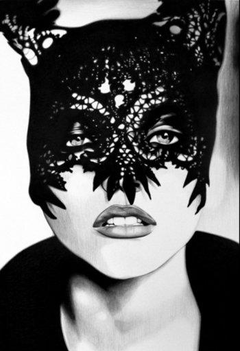 Wayne DANZA - Dessin-Aquarelle - Mask