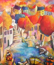 FAUVE - Painting - BORD DE MER L'ÉTÉ