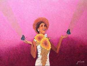 Julio César OSORIO - Painting - Loving Whitney    (Cat N° 6659)