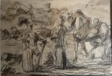 乔治•德•基里科 - 水彩作品 - Guerrieri Antichi