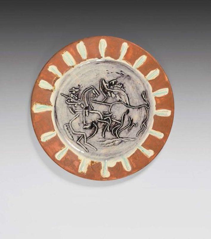 Pablo PICASSO - Ceramiche - Scène de tauromachie