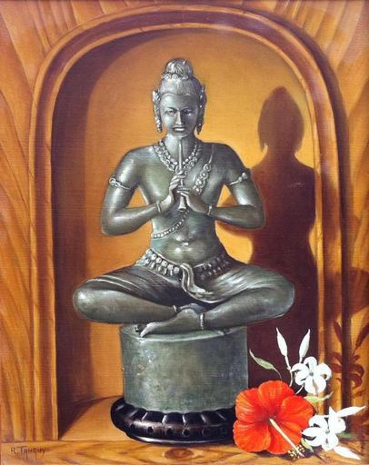 Richard TANGUY - Peinture - dieu thai orientaliste