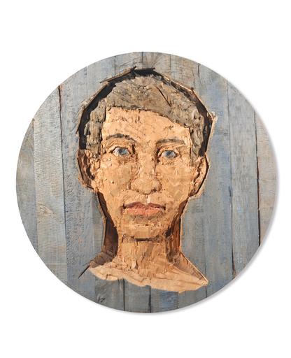 Stephan BALKENHOL - Escultura - Grosses Kopfrelief (Mann)