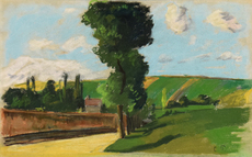 卡米耶•毕沙罗 - 水彩作品 - Paysage à Pontoise