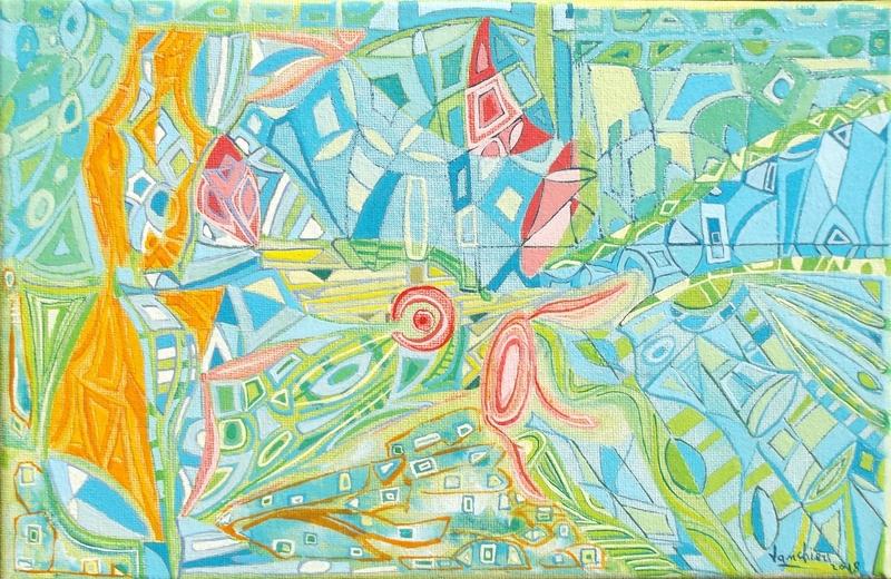 Carlo VANCHIERI - Painting - No titre 19-01-2018