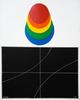 Lucio DEL PEZZO - Gemälde - Dischi cromatici e curve