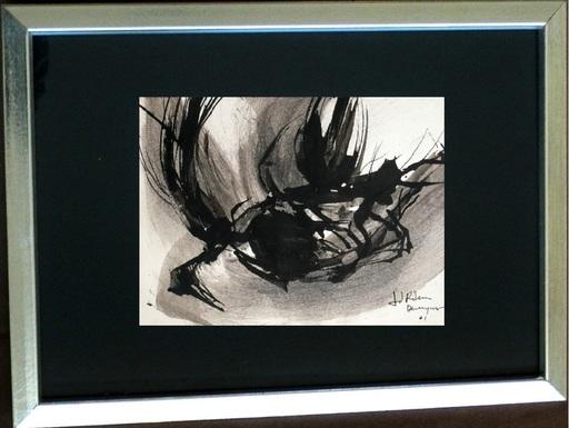 Juan RIBERA BERENGUER - Peinture - Black abstraction III