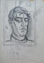 Henryk BERLEWI - Dibujo Acuarela - Two Male Portraits
