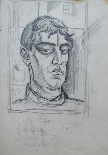 Henryk BERLEWI - Dessin-Aquarelle - Two Male Portraits