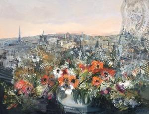 Monique JOURNOD - 绘画 - Vue de Paris
