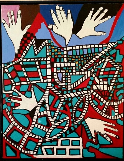 Walter SPRUYT - Pintura - Concerto pour 4 mains droites et une main gauche