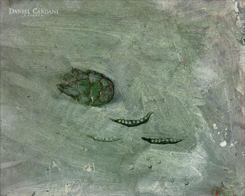 Miquel BARCELO - Pintura - Alcachofa y guisantes