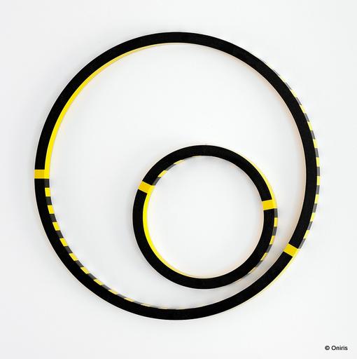 Gerhard DOEHLER - Sculpture-Volume - Cercle sans titre / jaune/noir 40