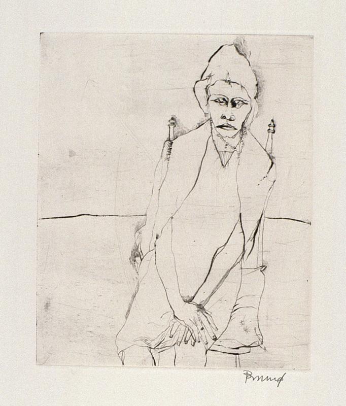 Bruno BRUNI - Estampe-Multiple - Sitzende