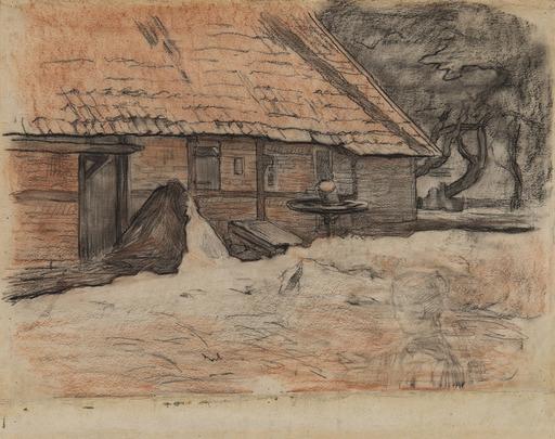 Piet MONDRIAAN - Dibujo Acuarela - Vue d'une ferme à Winterswijk