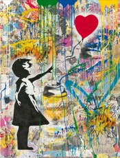 MR BRAINWASH - Pintura - Balloon Girl (large)