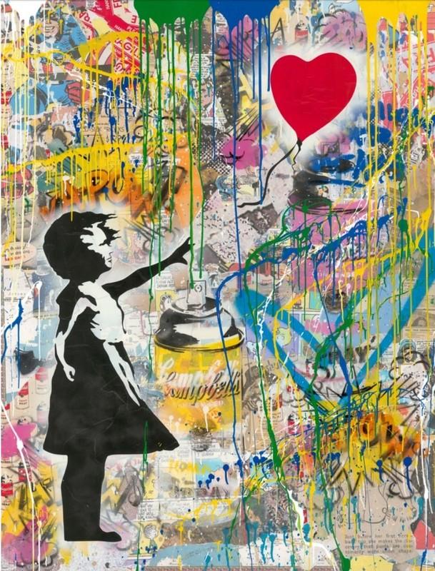 MR BRAINWASH - Pintura - Balloon Girl (large)