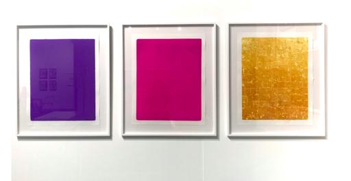 Yves KLEIN - Stampa-Multiplo - Triptyque : Monochrome bleu ikB 067 (1959) + Monogold 8 (196