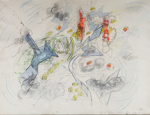 Roberto MATTA - Dessin-Aquarelle - S'oeil du Cyclope