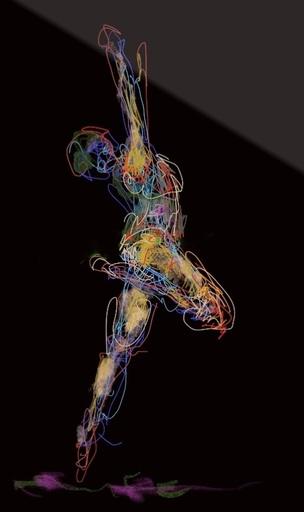Nicole LEIDENFROST - Druckgrafik-Multiple - Dance Studies Nr 1