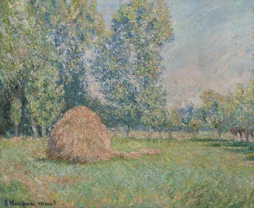 Blanche HOSCHÉDÉ-MONET - Painting - Meule de foin, plaine des Ajoux, Giverny
