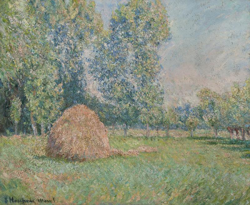 Blanche HOSCHÉDÉ-MONET - Pintura - Meule de foin, plaine des Ajoux, Giverny
