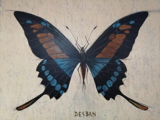 Marcel Charles DESBAN - Pintura - genre Papilio - entomologie