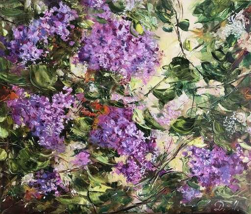 Diana MALIVANI - Painting - Lilac