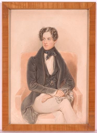 "Josef BEKEL - Miniature - ""Count Bathiany"", Watercolor"