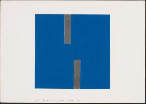 Getulio ALVIANI - Peinture - C'è un altro quadrato - studio