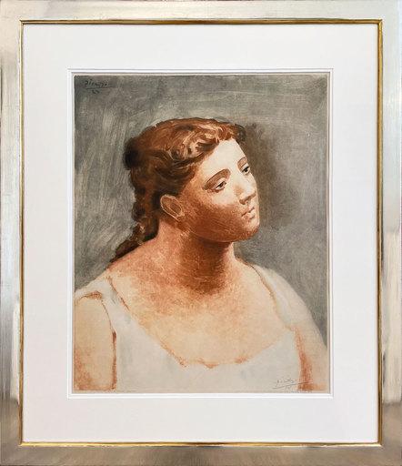 Pablo PICASSO - Stampa-Multiplo - Buste de femme en blanc
