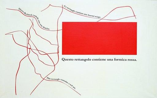 Emilio ISGRO - Painting - ROSSA ROUGE ROTE RED
