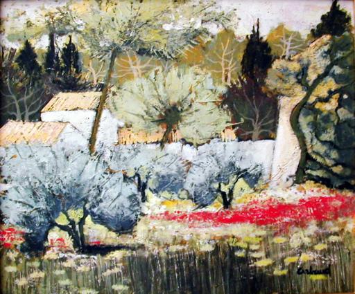 Lucien ARBAUD - Painting - Les coquelicots à Fontvieille