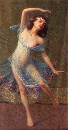 Giovan Battista CREMA - Gemälde - Danzatrici (trittico), 1915 ca.