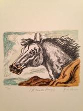 Giorgio DE CHIRICO - Stampa Multiplo - Il cavallo lampo 1971
