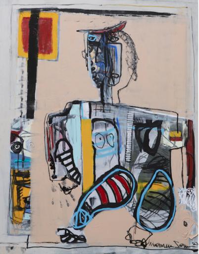 MONSIEUR JAMIN - Pintura - En équilibre