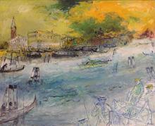 Jean FUSARO - Pintura - Venise au soleil couchant