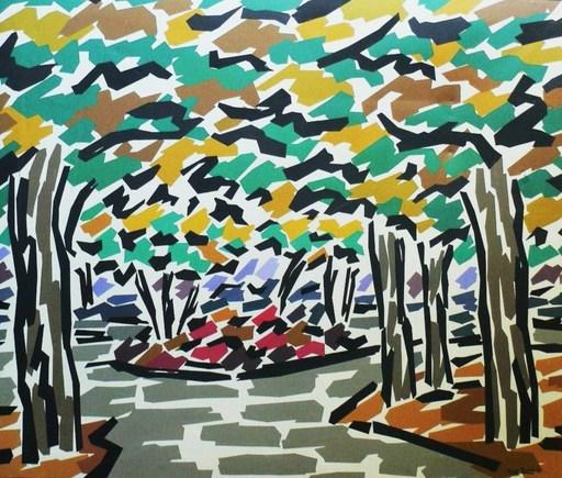 Rosa TORRES - Pintura - Le sous bois