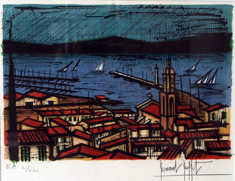 Bernard BUFFET - Print-Multiple - Saint-Tropez