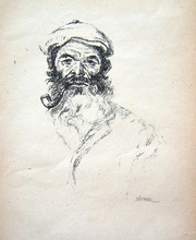 Hermann STRUCK - Print-Multiple - Portrait of a Jew with a Pipe