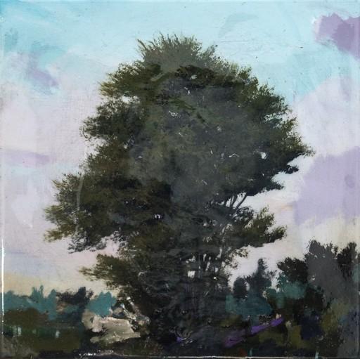 Peter HOFFER - Peinture - Tree with Violet Skies